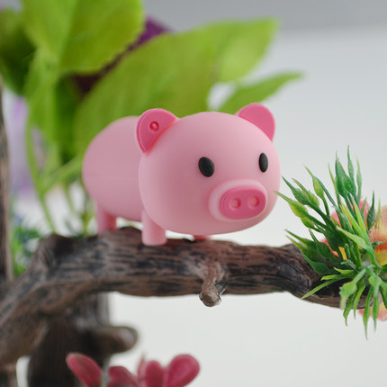 High Speed PenDrive Cartoon Cute Pig Usb Flash Drive Pen Drive 4G/8G/16G/32G/64GB U Disk Animal Memory Stick Real Capacity Gift
