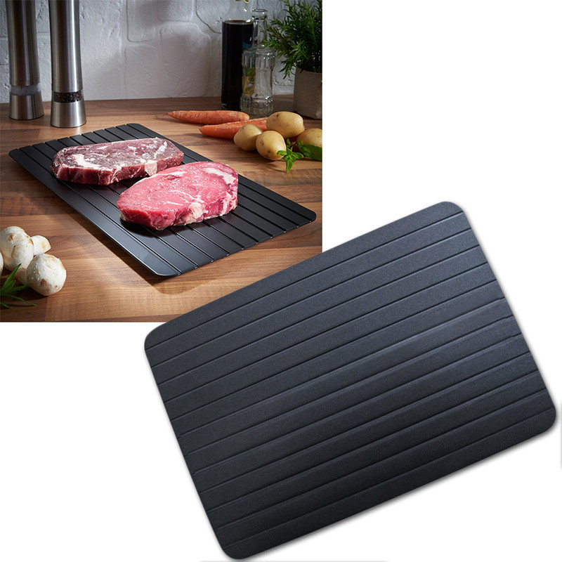 Defrost Tray Thaw Frozen Food Meat Fish In Minutes Home defrosting tray No Electricity Chemicals Microwave