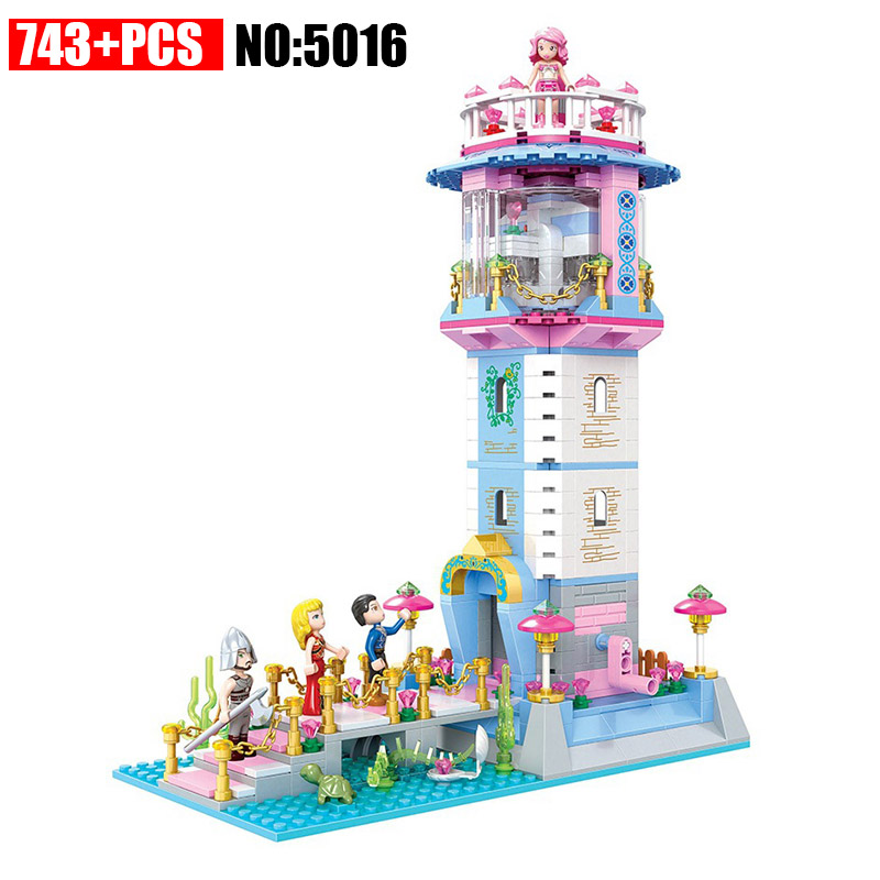 Winner 5016 Mermaid Series Lighthouse Building Blocks Educational Toys DIY Bricks Girls Friends Toys for Children Great Gift xipoo 6 in 1 blue military ship diy model building blocks bricks sets educational gift toys for children boy friends