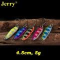 Jerry 5pcs 5g Casting flutter metal spoons winter fishing lures artificial bait