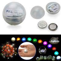 1200 pcs * Lâmpadas Bola de pérolas De Fadas Flash Led RGB Mini Luz Balão Para A Festa de Casamento Decoração Colocar na Lanterna cor Branca, amarelo