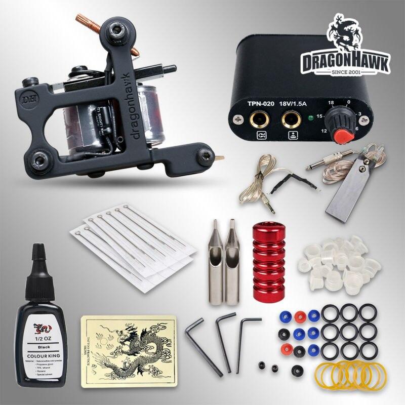 Beginner tattoo kit 1 machine professional tattoo kit in for Starter tattoo kits