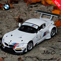 1:32 Scale Diecast Alloy Metal Racing Car Model For TheBMW Z4 Collection Model Pull Back Toys Car With Sound&Light - White