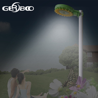 Sunflower Solar Garden Light LED Solar Power Street Light PIR Motion Sensor Lamps Outdoor Waterproof Security