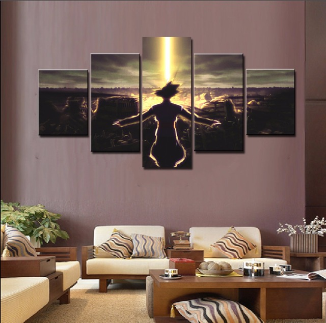 Wall Art Painting Pictures Canvas Printed Modular Poster 5 Panel ...