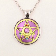 JP Anime Sailor Moon Mens Handmade New Fashion Necklace brass silver glass dome Pendant steampunk Jewelry Gift women toy chain 1