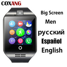 COXANG Men Smart Watch Q18 Bluetooth Sim Card Watch Phone Touch Screen Smartwatch For Men Smart Clock Connect Android IOS Huawei