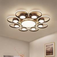 Modern LED Ceiling Lights for Living room Bedroom Abajur Luminarias lustre de plafond Round Coffee black Ceiling lamp for home