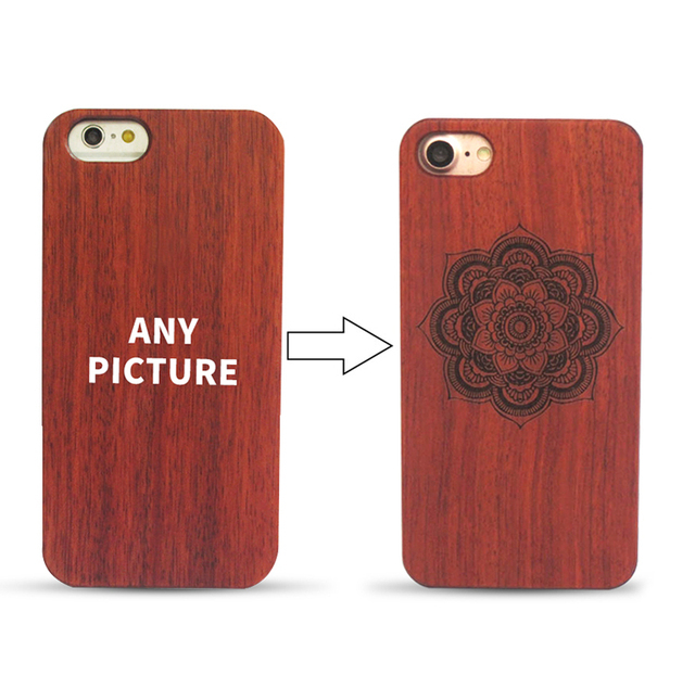 half off 4e515 137f4 US $239.0 |50 pcs Wholesale Personalized Customize Laser Carving Cherry  Wood Phone Case for iPhone 8 8 Plus Novelty Wooden Cover-in Fitted Cases  from ...