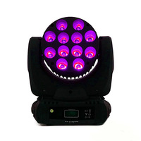 2pcs/lot LED Beam 12x12W RGBW 4in1 DMX512 Moving Head Stage Light Strobe Lamp Effects Lighting For DJ Club Party Show Concert