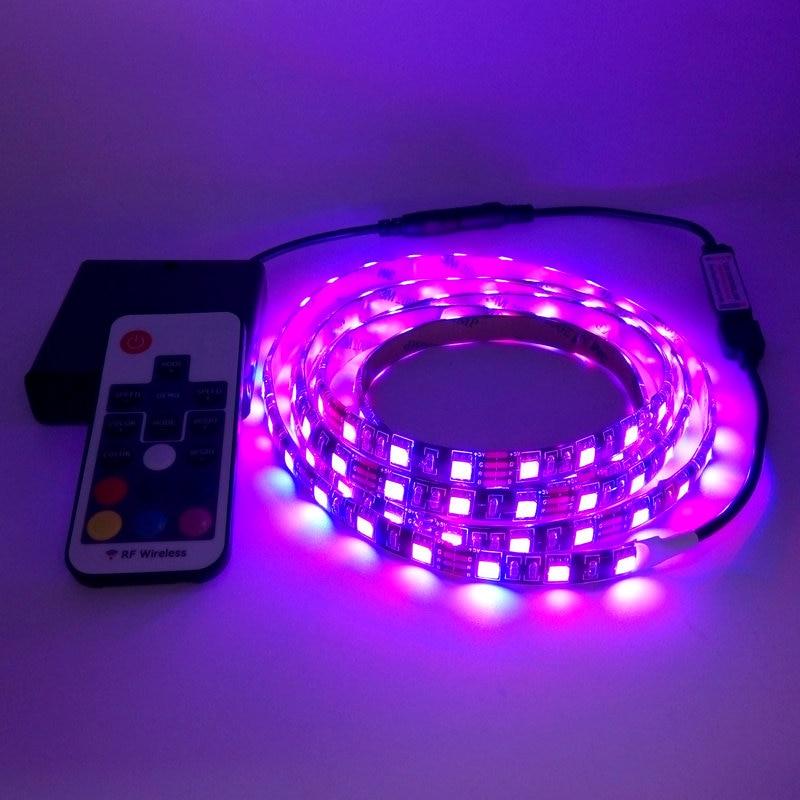 Akkumulátor LED szalag 5050 RGB 5V fekete NYÁK szalag világítás - LED Világítás - Fénykép 4