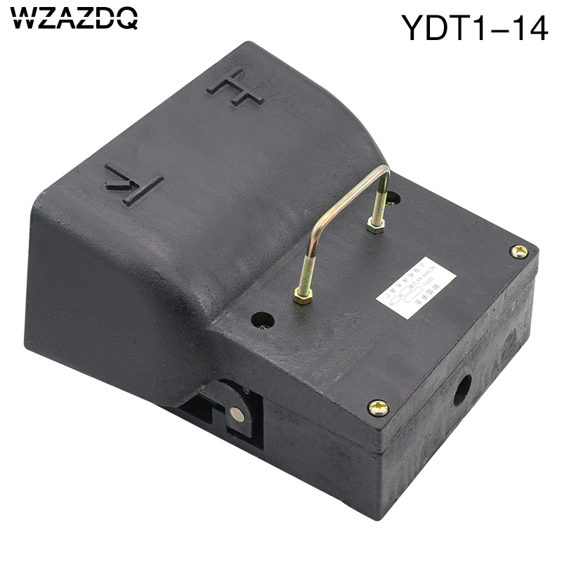 WZAZDQ foot switch YDT1-14 cast iron bidirectional up and down pedal switch silver contact hydraulic bending machine цена