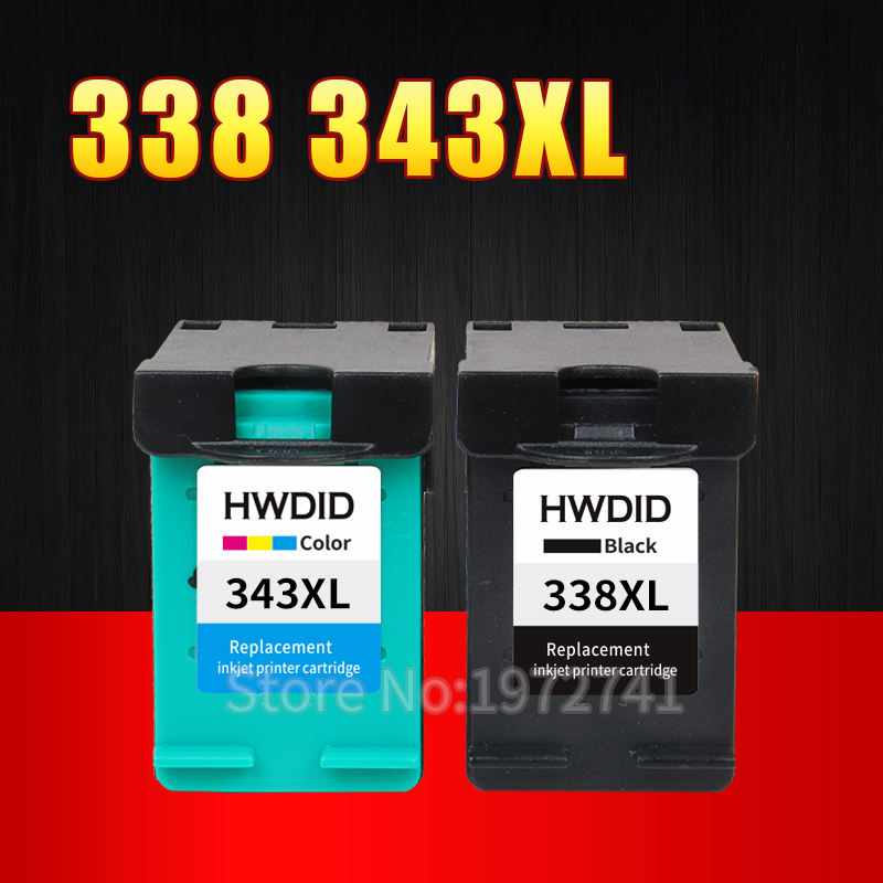 2 Pack Für HP 338 343 tintenpatrone Für HP Deskjet 6540 5740...