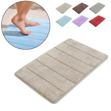 Coral Foam Non-Slip Back Rug Soft Bathroom Carpet Memory Foam Bath Mat(China)