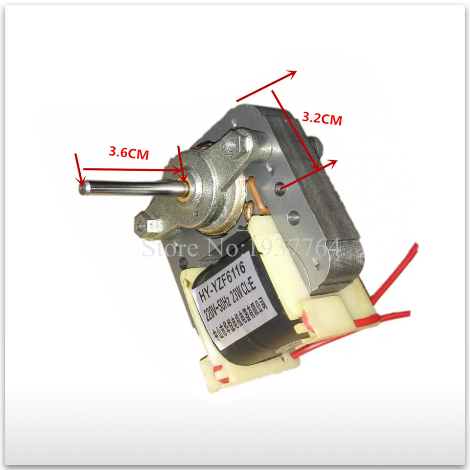 1pcs new good working High-quality for refrigerator fan Motor 220V 23W HY-YZF6116 cooling fan motor цена