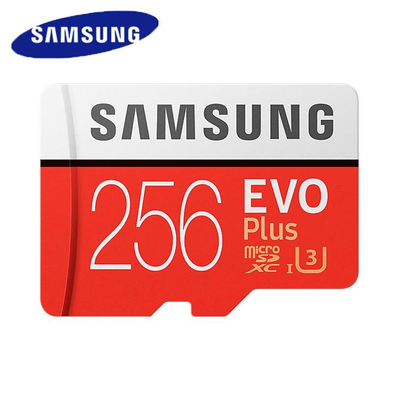 цена на SAMSUNG Micro SD Memory Card EVO Plus 256G 128GB 64GB U3 C10 SDXC 32GB U1 SDHC UHS-I TF Card cartao de memoria For Smartphone