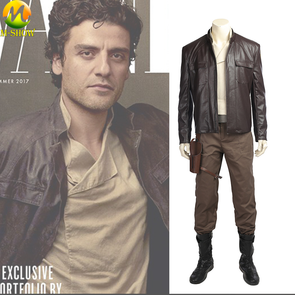 Star Wars The Last Jedi Poe Dameron Cosplay Costume Accessorie  Halloween Outfit