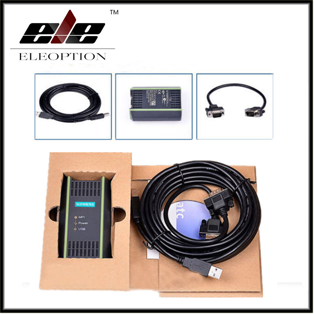 Eleoption 972-0CB20-0XA0 For SIEMENS S7 PLC Cable USB to PPI MPI 840D CNC System + Cable free shipping cp3 pm02 plc cable cp3pm02 convert cable from1747 cp3 to micrologix plc windows xp win 7 win8 usable