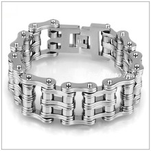 8.66″*24mm 172g Huge Heavy 316L Stainless Steel Silver Motorcycle Bike Chain Mens Bracelet Bangle Christmas Gift Fashion Jewelry