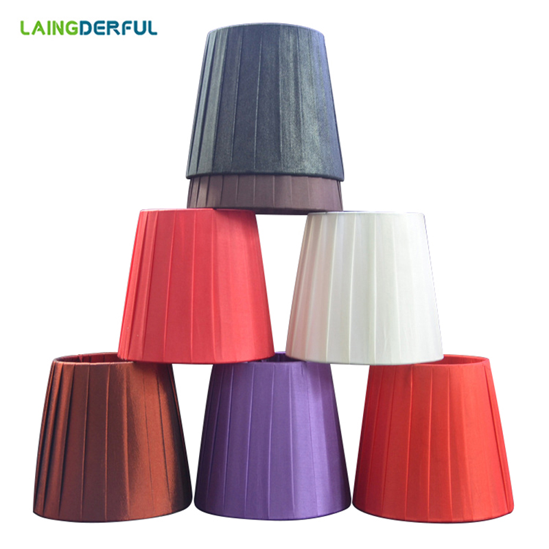 LAINGDERFUL Modern Cloth Candle Lampshade Wall Lamp Light Cover Nordic LED Lampshell Table Lamp Cage for E14 Chandelier ...