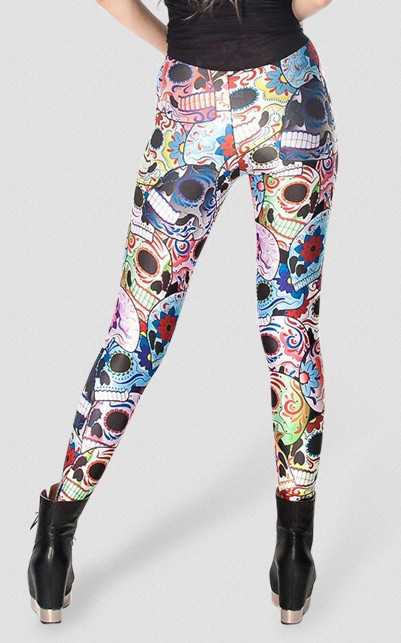 f0a510c8a65180 Drop Shipping X 017 New Day of the Dead Leggings Skull Floral print Pants S  M L XL Plus size on Aliexpress.com | Alibaba Group