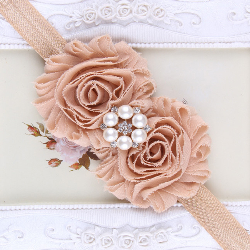 Shabby Lace Girls Headband Chic Flower Children Headband Hair Bow Flower Headband for Girl hair bow Children Hair Accessories popular in europe and america children wear hair knotted cotton big bow tie children hair baby hair headband