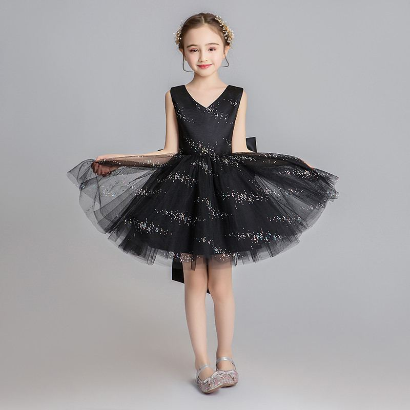 Children Girls Mesh Sequin Bow Tutu Princess Dress Baby Girl Clothes Vestidos Kids Dresses For Girls Birthday Wedding Party F173Children Girls Mesh Sequin Bow Tutu Princess Dress Baby Girl Clothes Vestidos Kids Dresses For Girls Birthday Wedding Party F173