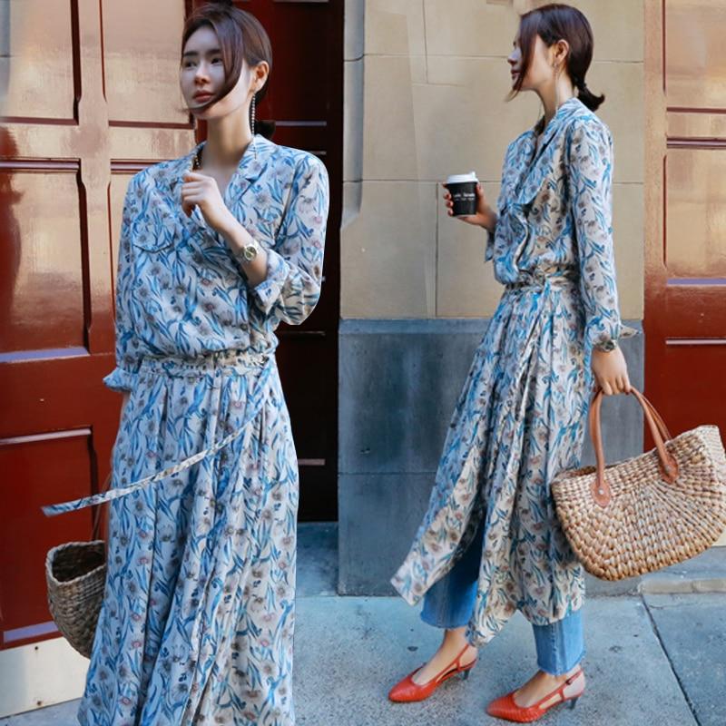 SuperAen 2019 Spring and Summer New Women s Dress Korean Style Wild Casual Ladies Dress Fashion