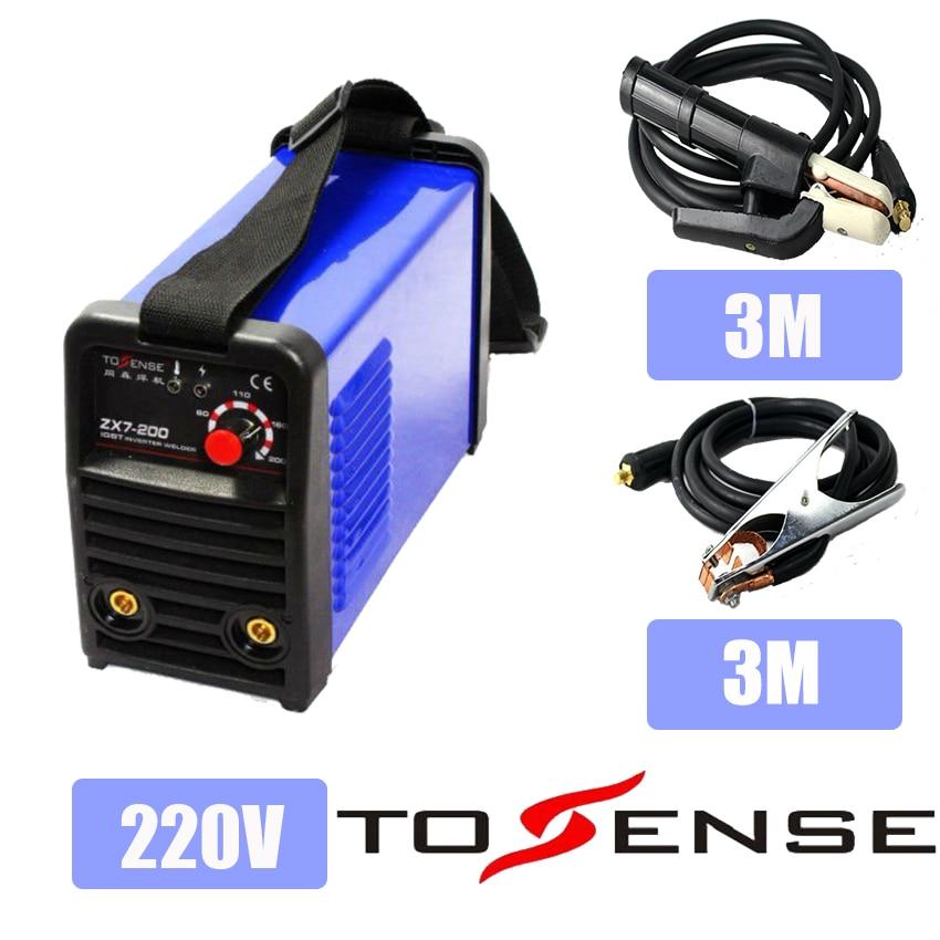 DC Onduleur Machine De Soudage Plsama Soudeur ZX7200 220 V Avec 3 M Pince et Support
