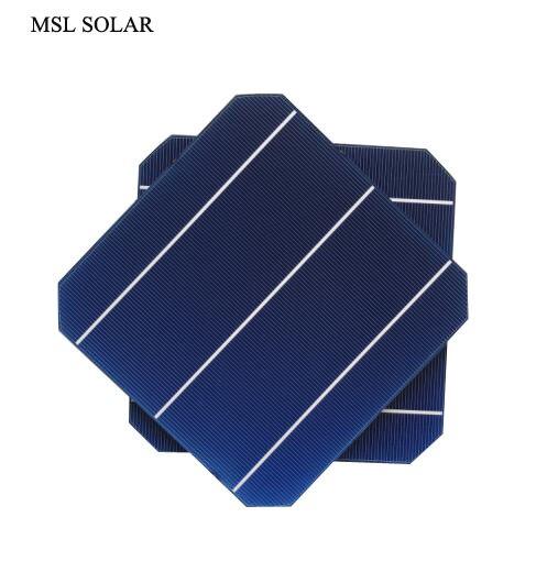 MSL SOLAR 156MMx156MM Monocrystalline solar cell A Grade 4 7W 0 5V Top Quality 6x6 Solar