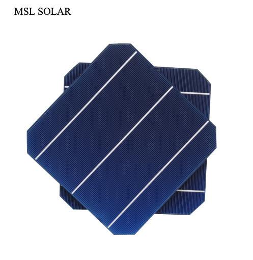 MSL SOLAR 156MMx156MM Monocrystalline solar cell A Grade 4.7W 0.5V Top Quality 6x6 Solar cells for DIY Solar panels.25pcs/Lot