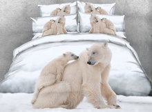 JF-096 Digital Print Lovely polar bear print bedding sets twin size single bed sheets queen super king duvet cover 2m bedclothes(China)