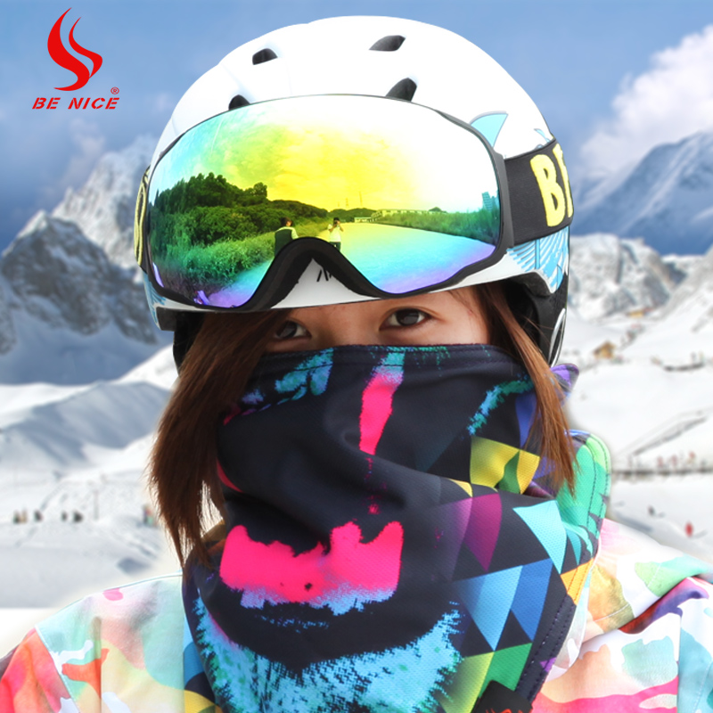 ФОТО Be Nice Brand Professional snow/UV- Protection Multi-Color/double anti-fog skiing eye wear Snowboarding skiing Glasses goggles