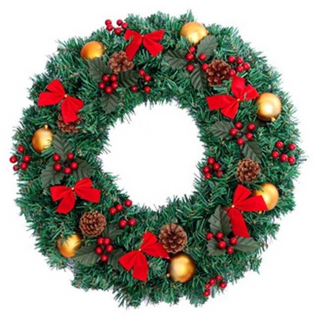 Merry Christmas Decoration Wreath Garland 50cm Adornos Navidad 2015 ...