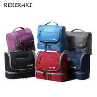 REREKAXI Designer Hanging Cosmetic Bag Waterproof Oxford Travel Pouch Make Up Bag Organizer Toiletry Kit For