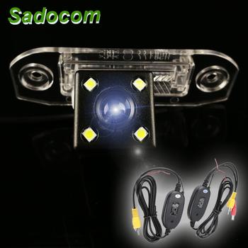 Kamera tylna HD dla Volvo S40 S60 S80 XC60 XC60 V60 S80L S60L S40L kamera cofania kamera tylna monitor do parkowania bezprzewodowy tanie i dobre opinie Tył ACCESSORIES Z przodu Front Side Pojazd backup kamery wireless Drutu Z tworzywa sztucznego Plastikowe + Szkło Sadocom