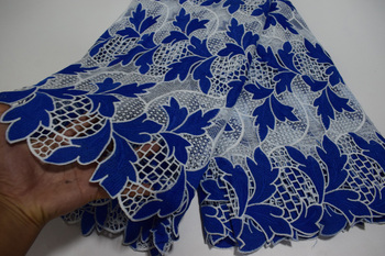 High Quality African Guipure Cord Lace Fabric ,Nigeria soluble Water Lace For dress Wedding    JYN49