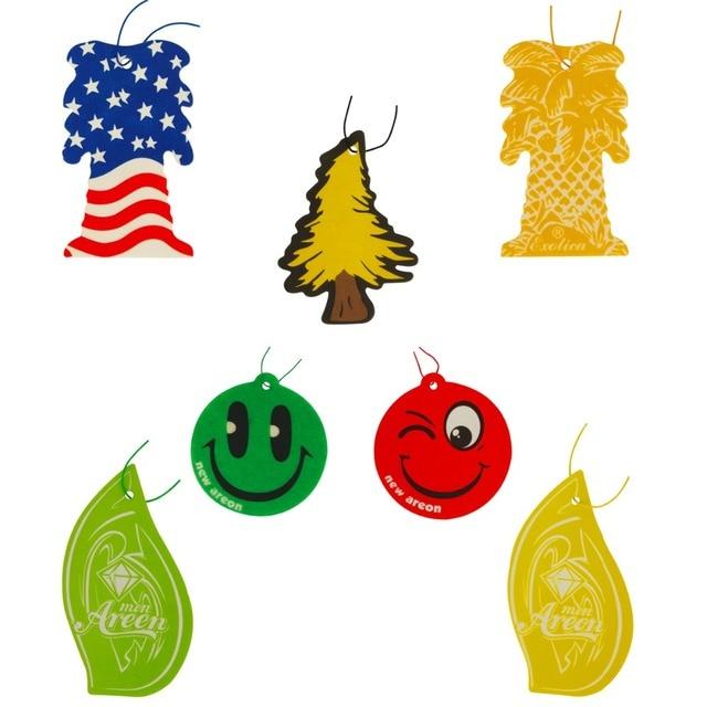 2017 Best Car Air Freshener 7 Colors Vehicle Freshner Pendant Safe Natural E Material Auto Decoration Tree Emoji Style