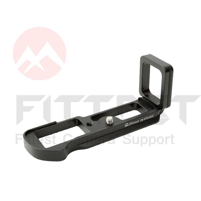 PLUS FORT LB-EM10III L en forme de Tirez Quick Release L Plaque L Support Titulaire main Grip pour Olympus OMD EM10III DSLR caméra rotule