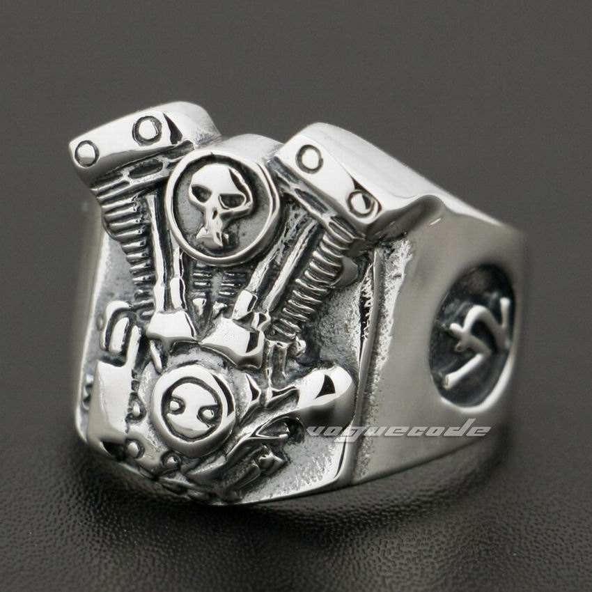 03073cc2d87bd US $49.0 |V2 Skull Motorcycle Engine 925 Sterling Silver Mens Biker Ring  8Y009-in Rings from Jewelry & Accessories on Aliexpress.com | Alibaba Group