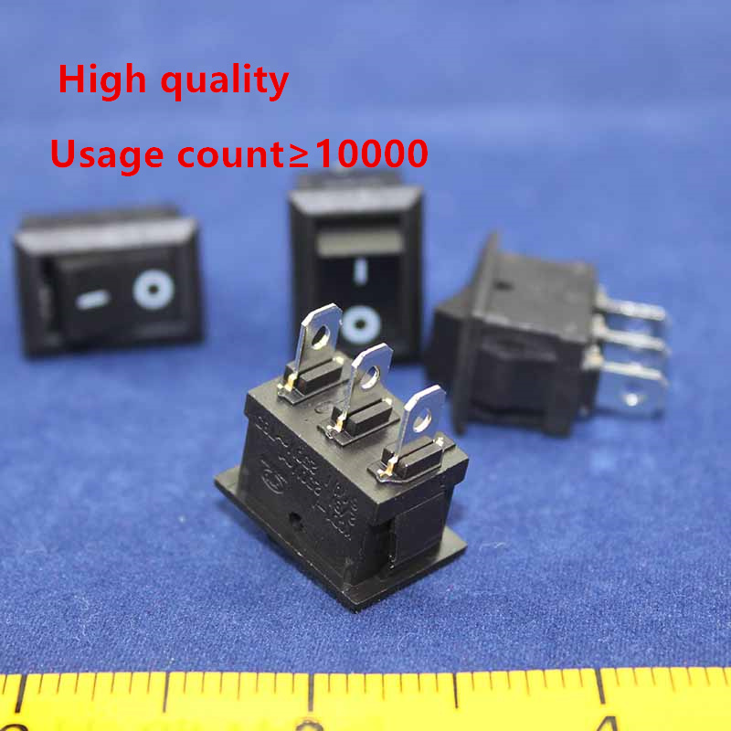 5pcs  KCD1 perforate 21 x 15 mm 3 pin 2 positions boat rocker switch ON - OFF power switch 6A/250V 10A/125V AC New HOT g126y 2pcs red led light 25 31mm spst 4pin on off boat rocker switch 16a 250v 20a 125v car dashboard home high quality cheaper