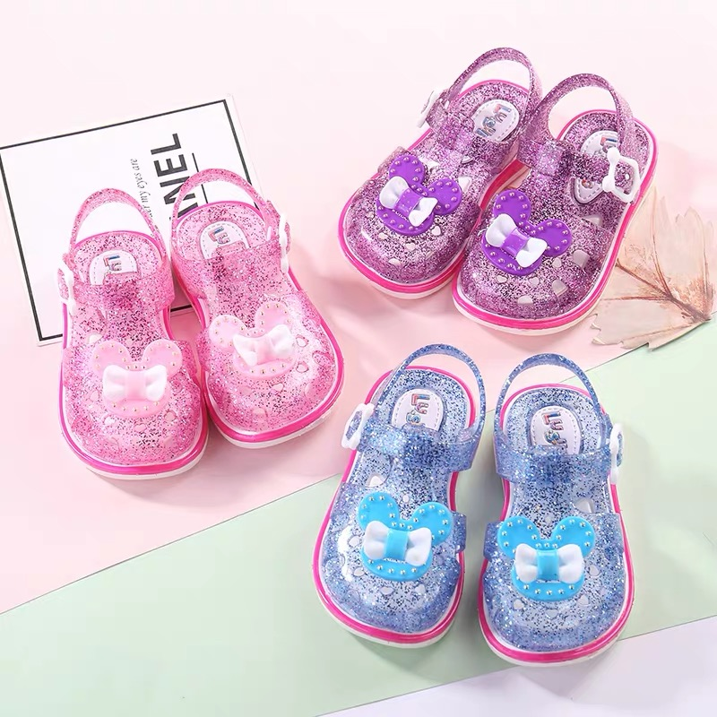 Girl Sandals 2019 New Fashion Little Girl Princess Shoes Open Toe Primary School Korean Version Of Summer Children's Crystal Sho