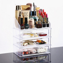 Clear Acrylic Plastic Make Up Storage Organizer