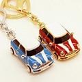Creative Metal Cartoon Car key ring Trinket Bag pendant Key holder fashion Crafts gift Key Chain Wallet deductionFree shipping