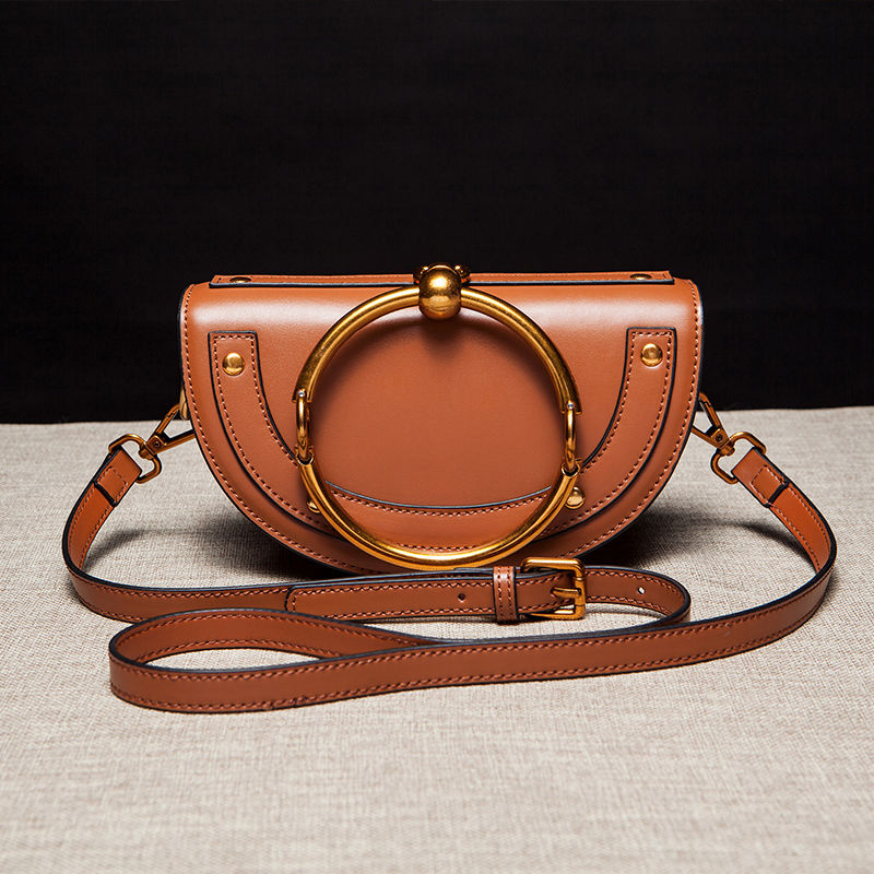 Maihui New fashion real cowhide genuine leather bag designer handbags high quality shoulder bags for women small half moon bag 2017 new luxury genuine leather women shoulder bag fashion brand designer cowhide women real leather women bag gifts for mother