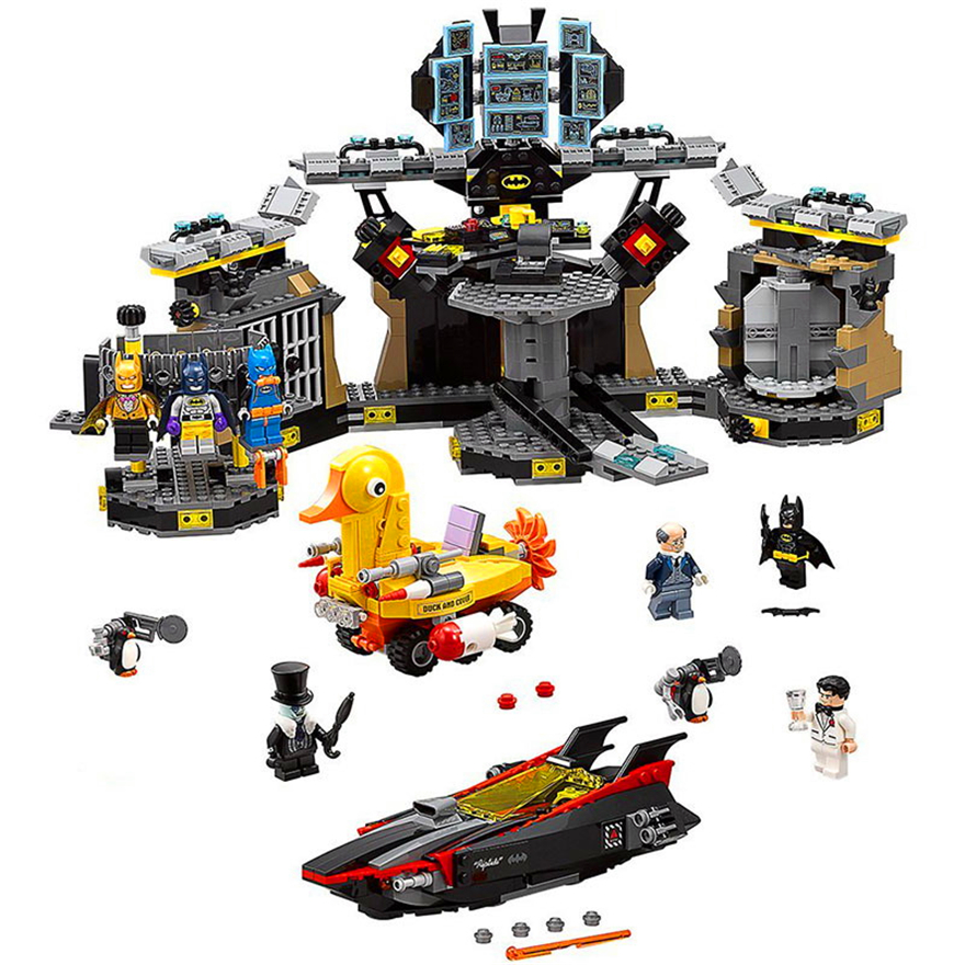BELA 10636 DC Super héros Batman BatCave blocs de construction rodage brique Compatible LegoIN Technic 70909 Playmobil jouets