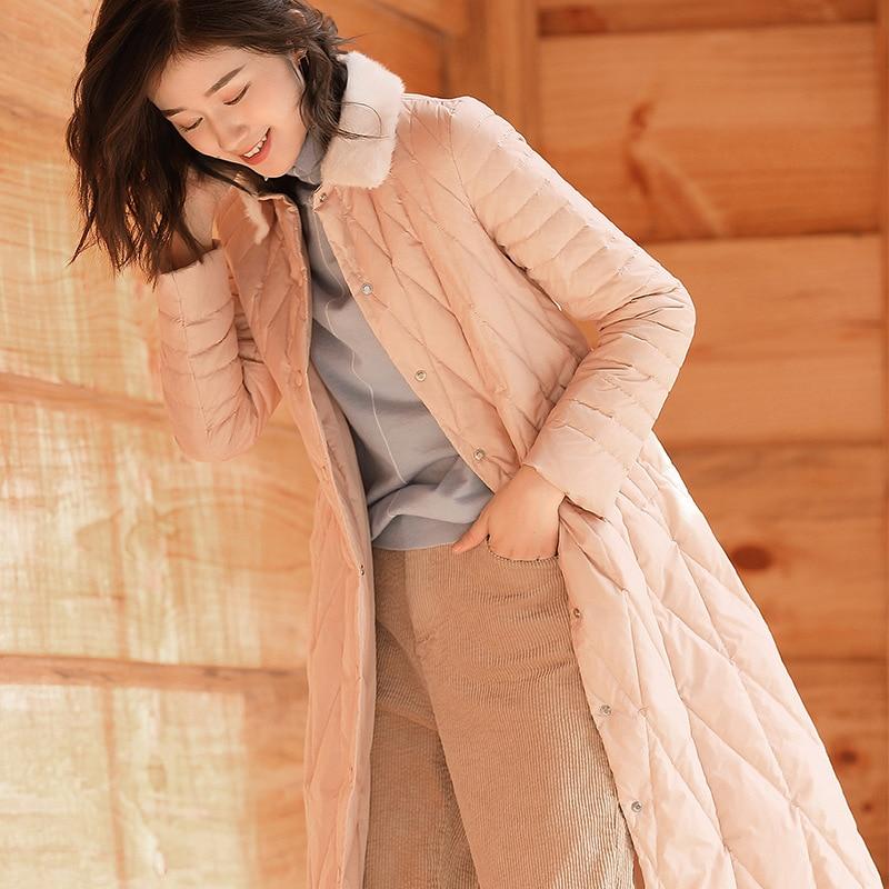Dame Populaire Black De Manteau Rembourré Bas Le Haute Mode Qualité Nouveau Marée Hiver Femmes Chaud pink Vers AR354Lj