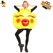 DSPLAY Cosplay Party Fashionable Jumpsuit Flush Kissing Costume Deluxe Unisex Fashion Brand New Design Kiss Emoticon Outfits