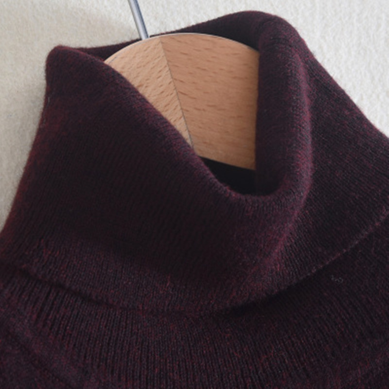 2020 Fashion Pure Color Men's Turtleneck Sweater Cotton Cashmere Sweaters Spring Autumn Loose Knitted Pullover Basic Sweater Men