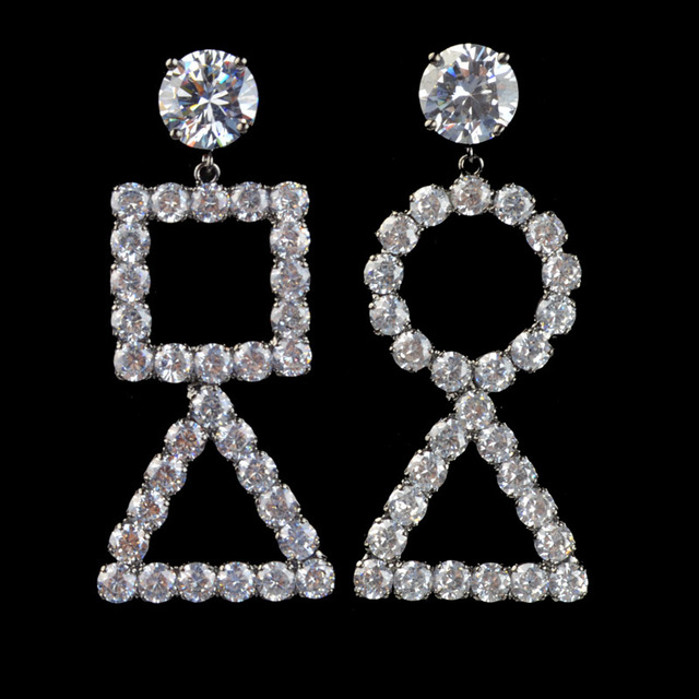 drop cubic rounds penelope earrings pears tw ct zirconia